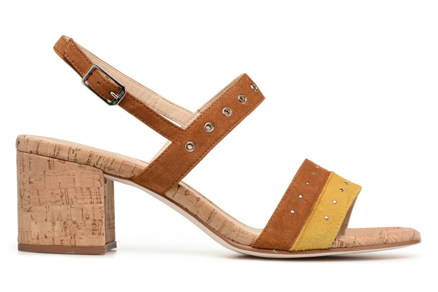 Sandals Unisa Osea Brown back view