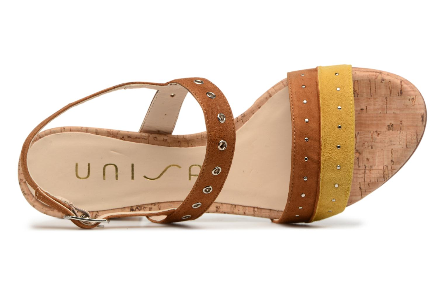 Sandals Unisa Osea Brown view from the left