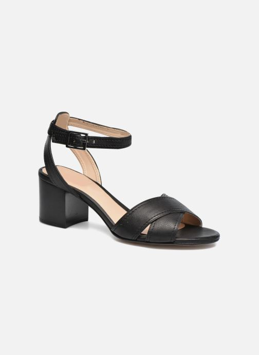 Sandals Unisa Orno Black detailed view/ Pair view