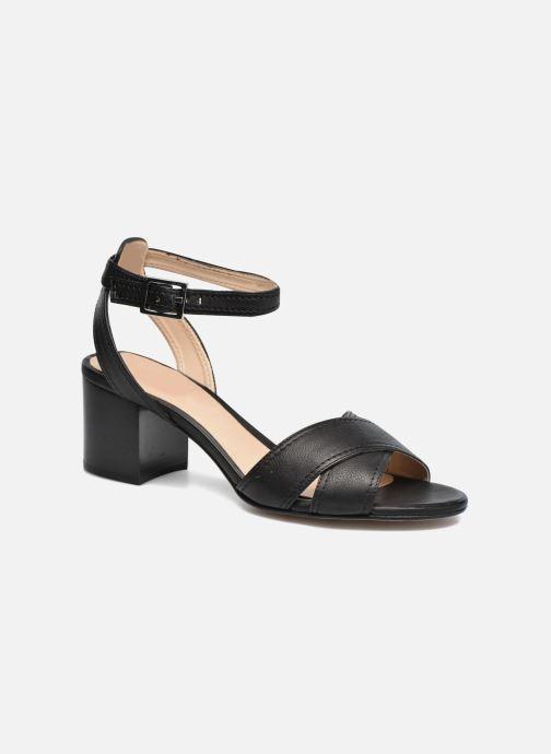 Sandals Unisa Orno Black detailed view/ Pair view