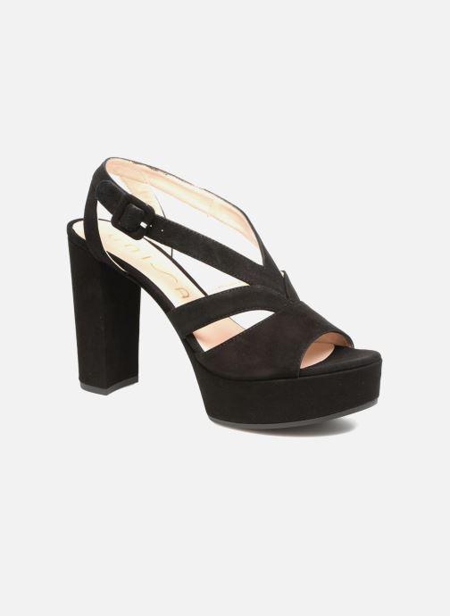 Sandales et nu-pieds Unisa Vistor Noir vue détail/paire