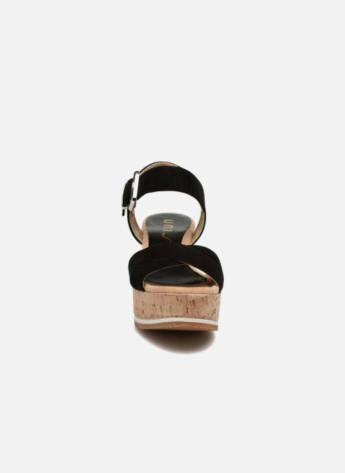 Sandales et nu-pieds Unisa Karpi Noir vue portées chaussures