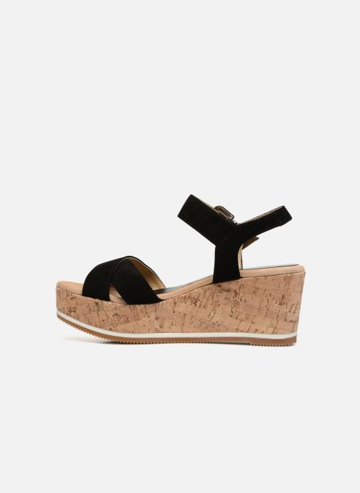 Sandales et nu-pieds Unisa Karpi Noir vue face