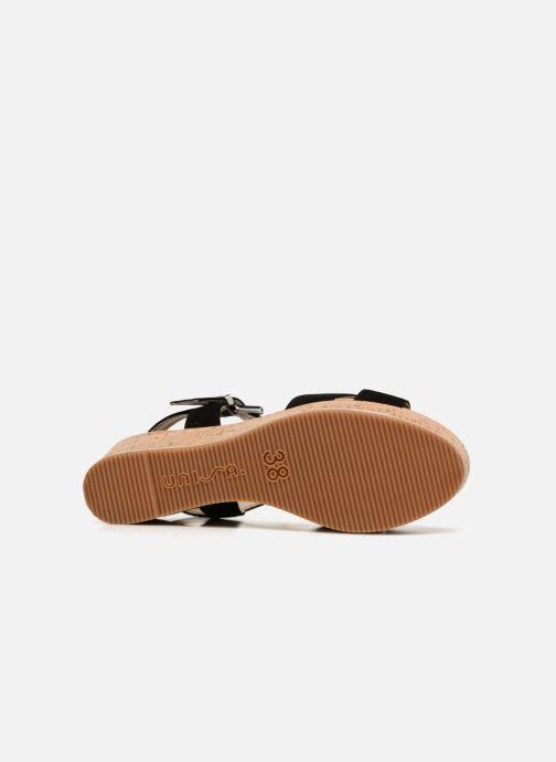 Sandales et nu-pieds Unisa Karpi Noir vue haut
