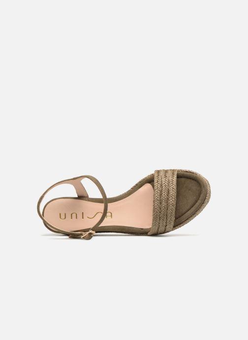 Sandales et nu-pieds Unisa Katia Vert vue gauche