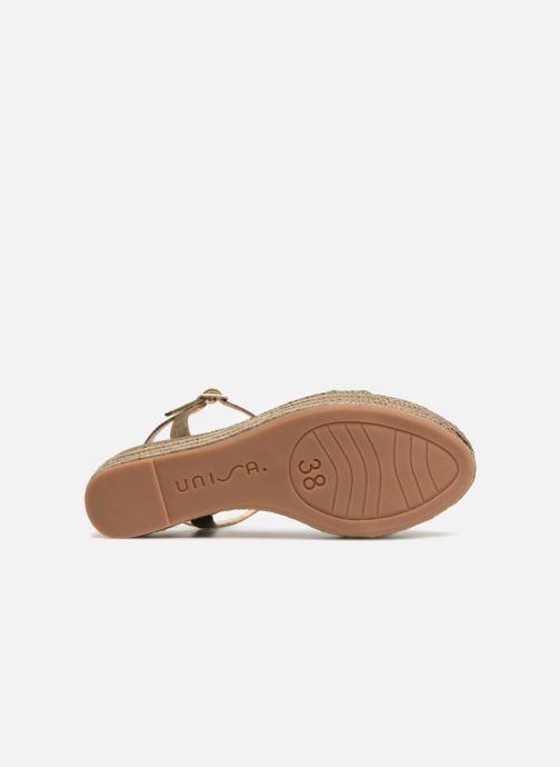 Sandales et nu-pieds Unisa Katia Vert vue haut