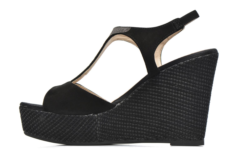 Sandales et nu-pieds Unisa Mambasen Noir vue face