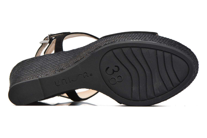 Sandales et nu-pieds Unisa Mambasen Noir vue haut