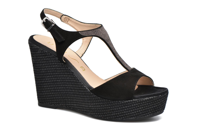 Sandales et nu-pieds Unisa Mambasen Noir vue détail/paire