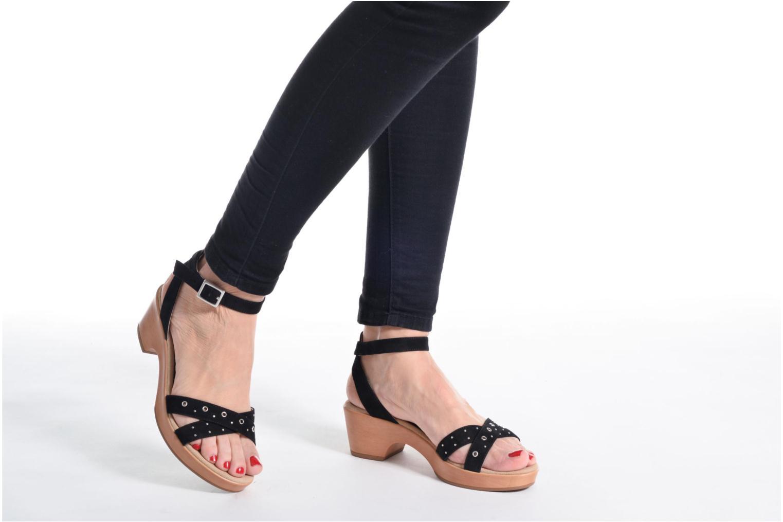 Sandales et nu-pieds Unisa Irita 3 Rose vue bas / vue portée sac