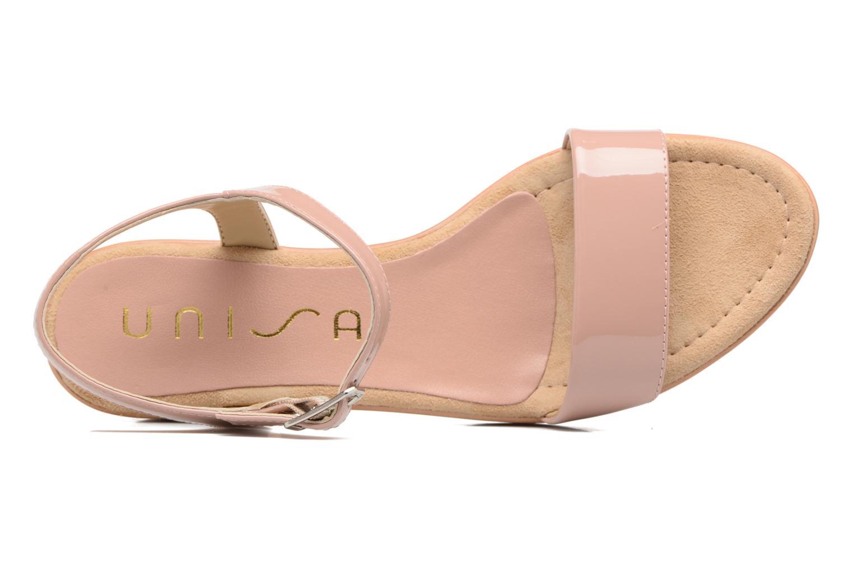 Sandales et nu-pieds Unisa Irita 3 Rose vue gauche