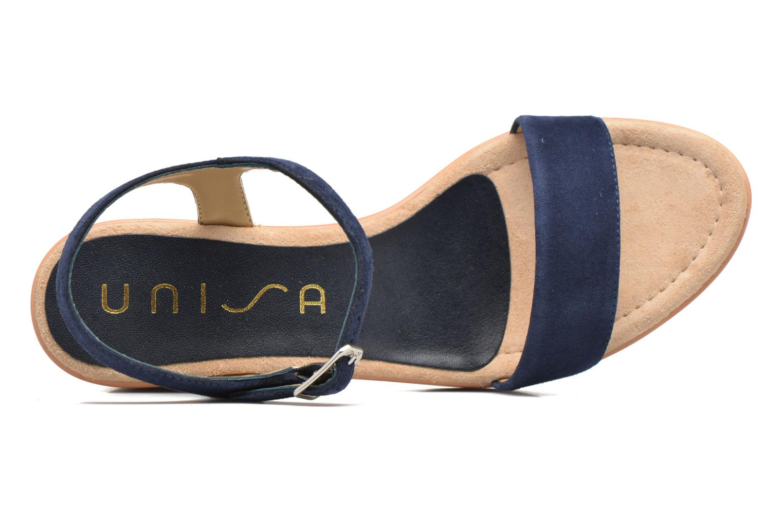Sandales et nu-pieds Unisa Irita 2 Bleu vue gauche