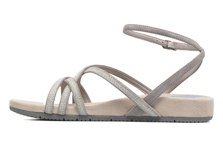 Sandales et nu-pieds Unisa Cabila Gris vue face
