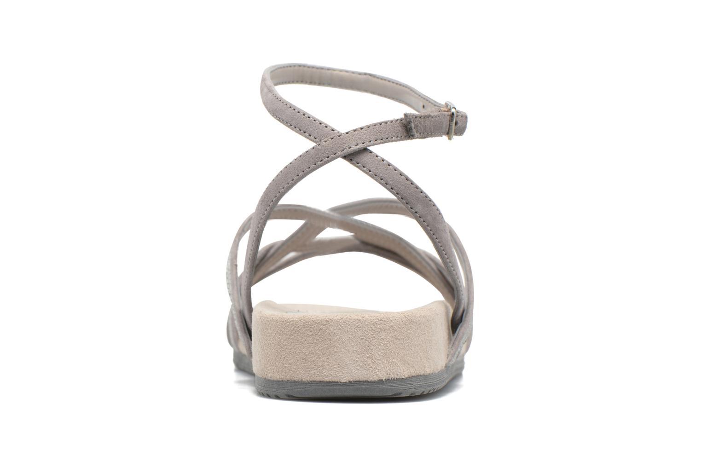 Sandales et nu-pieds Unisa Cabila Gris vue droite