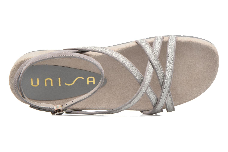 Sandales et nu-pieds Unisa Cabila Gris vue gauche