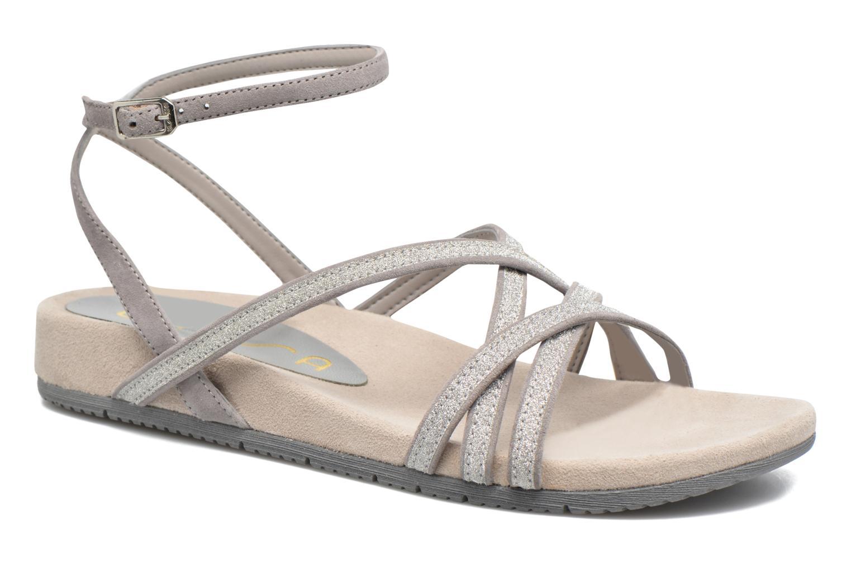 Sandales et nu-pieds Unisa Cabila Gris vue détail/paire