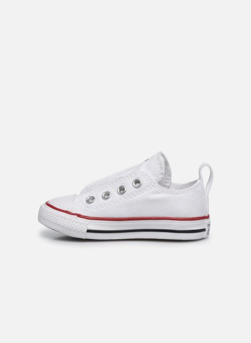Sneakers Converse Chuck Taylor All Star Simple Slip Wit voorkant