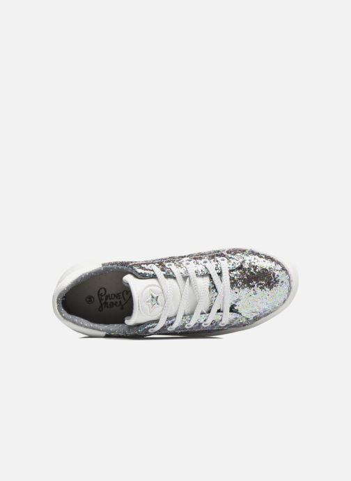 Deportivas I Love Shoes Xucro Plateado vista lateral izquierda