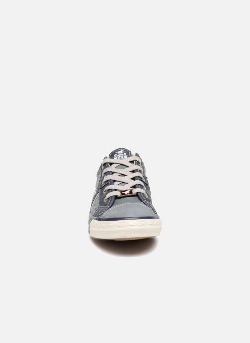 Baskets Mustang shoes Alwin Bleu vue portées chaussures