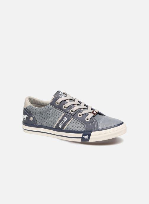 Baskets Mustang shoes Alwin Bleu vue détail/paire