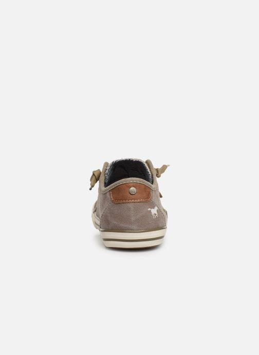 Baskets Mustang shoes Hartwig Beige vue droite
