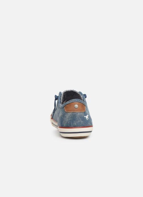 Baskets Mustang shoes Hartwig Bleu vue droite