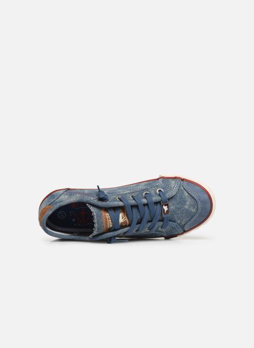 Baskets Mustang shoes Hartwig Bleu vue gauche