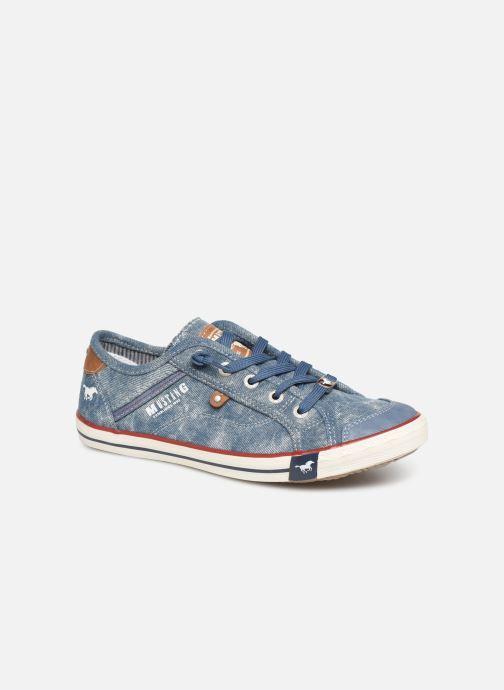 Baskets Mustang shoes Hartwig Bleu vue détail/paire