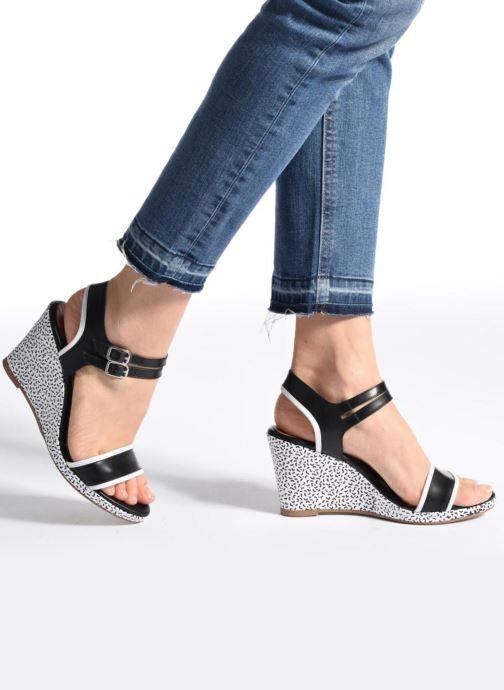 Sandales et nu-pieds Made by SARENZA Pastel Belle #10 Noir vue bas / vue portée sac