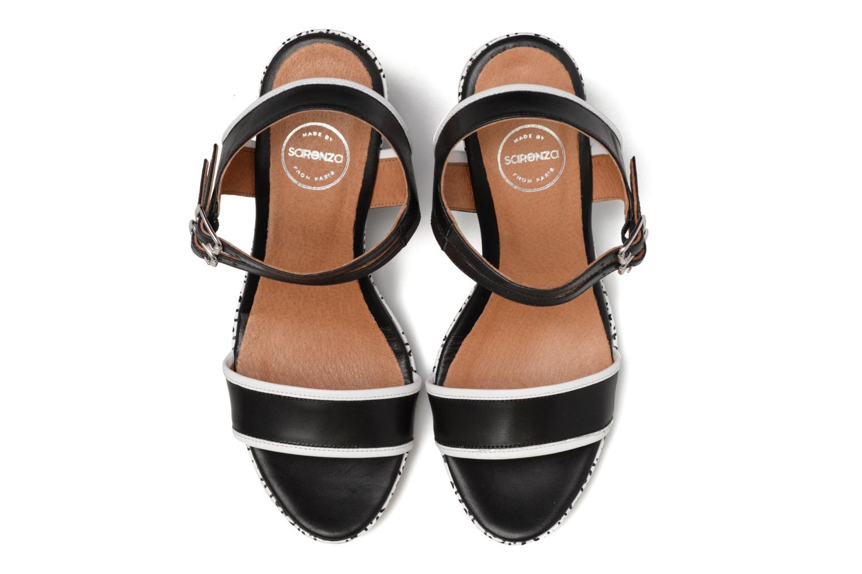 Sandalias Made by SARENZA Pastel Belle #10 Negro vista del modelo