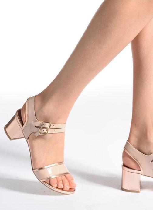 Sandalen Made by SARENZA Pastel Belle #11 rosa ansicht von unten / tasche getragen