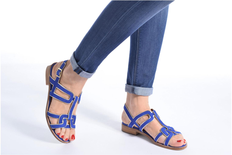 Sandalen Made by SARENZA Frida Banana #3 blau ansicht von unten / tasche getragen