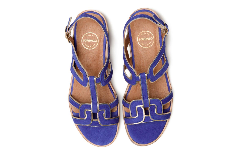 Sandalen Made by SARENZA Frida Banana #3 blau schuhe getragen