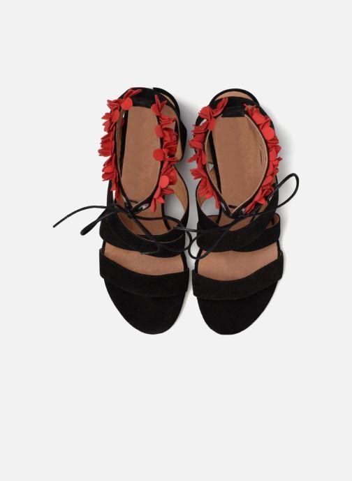 Sandalias Made by SARENZA Frida Banana #4 Negro vista del modelo