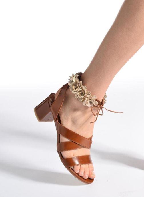 Sandales et nu-pieds Made by SARENZA Frida Banana #4 Marron vue bas / vue portée sac