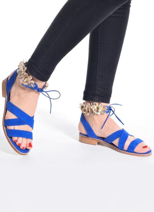 Sandales et nu-pieds Made by SARENZA Frida Banana #5 Bleu vue bas / vue portée sac