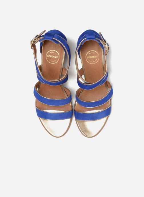 Sandales et nu-pieds Made by SARENZA Riviera Couture Sandales à Talon #8 Bleu vue portées chaussures