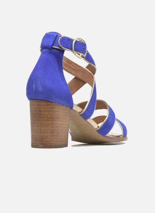 Sandales et nu-pieds Made by SARENZA Riviera Couture Sandales à Talon #8 Bleu vue face