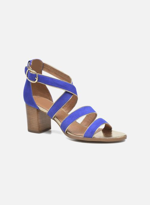 Sandales et nu-pieds Made by SARENZA Riviera Couture Sandales à Talon #8 Bleu vue droite