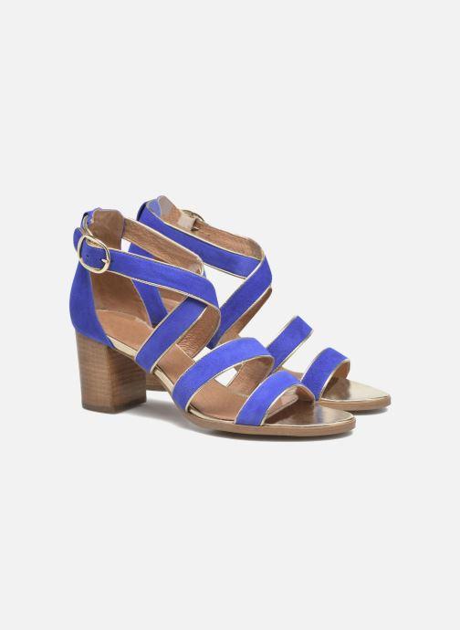 Sandales et nu-pieds Made by SARENZA Riviera Couture Sandales à Talon #8 Bleu vue derrière