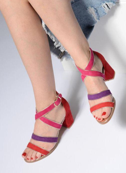 Sandales et nu-pieds Made by SARENZA Riviera Couture Sandales à Talon #8 Multicolore vue bas / vue portée sac