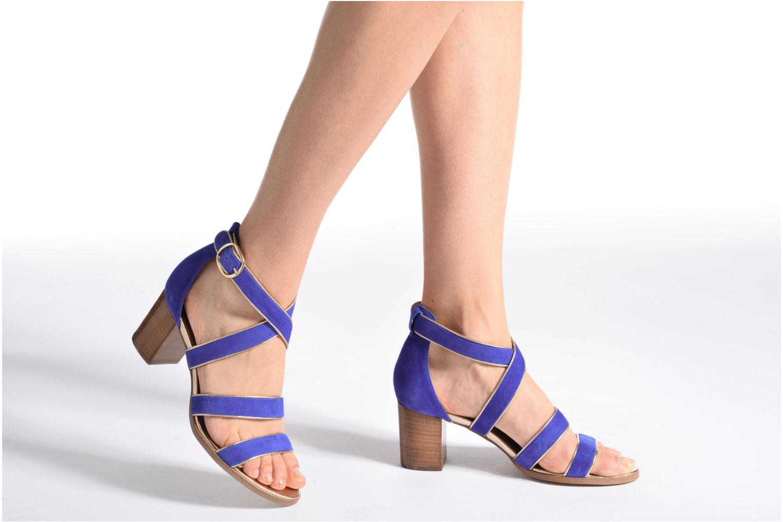 Sandalen Made by SARENZA Bombay Babes Sandales à Talons #2 blau ansicht von unten / tasche getragen