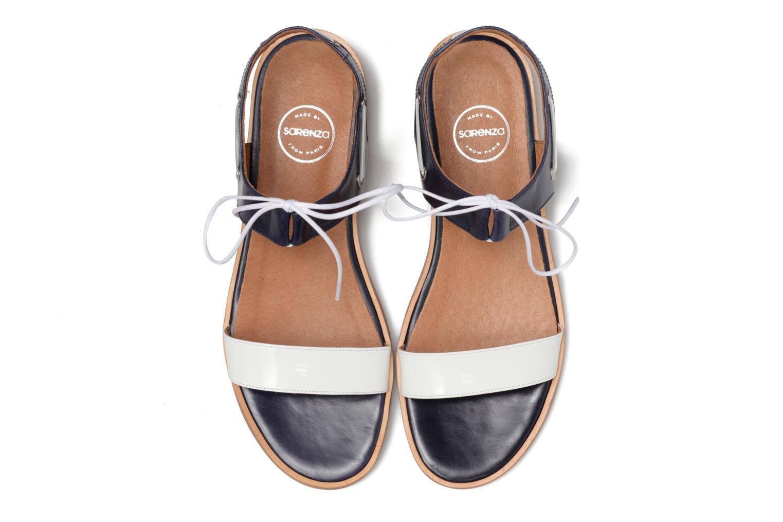 Sandalen Made by SARENZA Pastel Belle #6 blau schuhe getragen