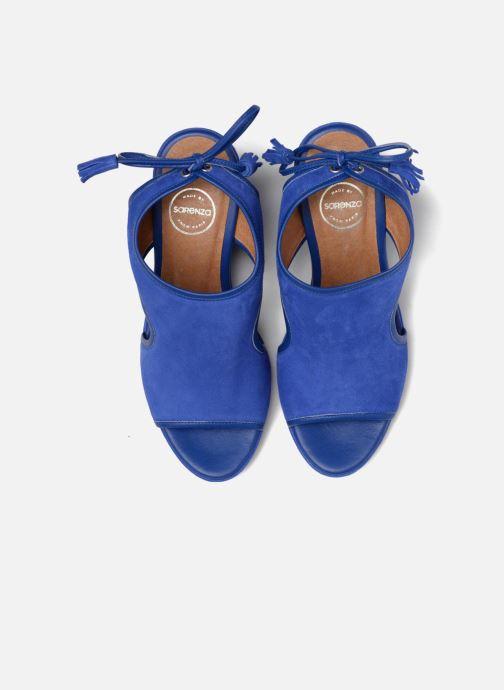 Sandali e scarpe aperte Made by SARENZA Frida Banana #9 Azzurro modello indossato