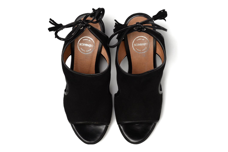 Sandalias Made by SARENZA Frida Banana #9 Negro vista del modelo