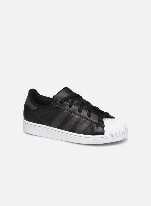Baskets adidas originals Superstar C Noir vue détail/paire