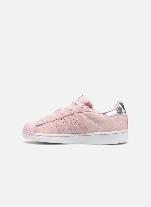 Sneakers adidas originals Superstar C Roze voorkant
