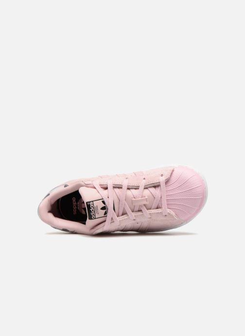 Baskets adidas originals Superstar C Rose vue gauche