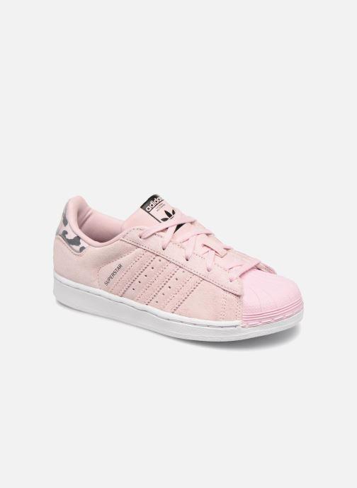 Baskets adidas originals Superstar C Rose vue détail/paire