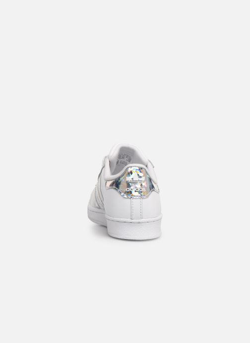 Baskets adidas originals Superstar C Blanc vue droite